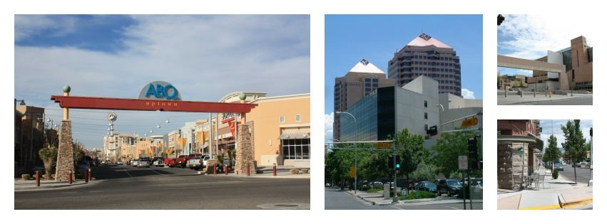A Collage of Photos from Downtown Albuquerque
