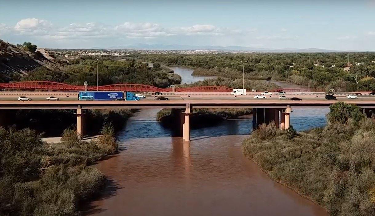 River Bridge Crossing for Vehicles