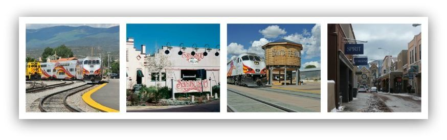 Collage of Photos From Santa Fe Depot