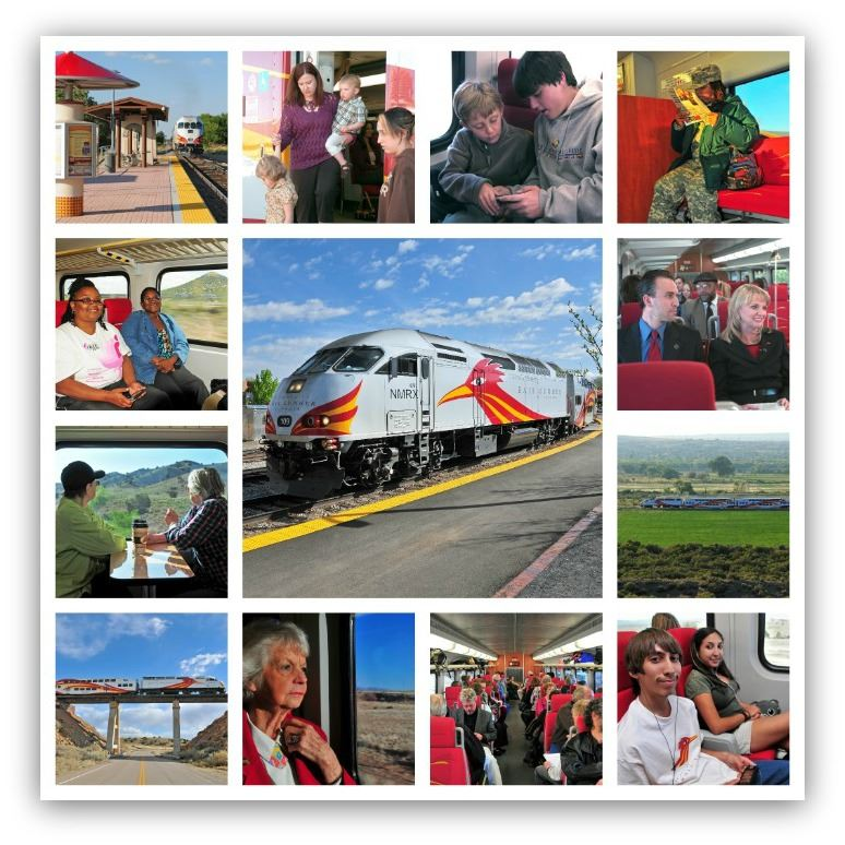 RIding the Train Photo Collage