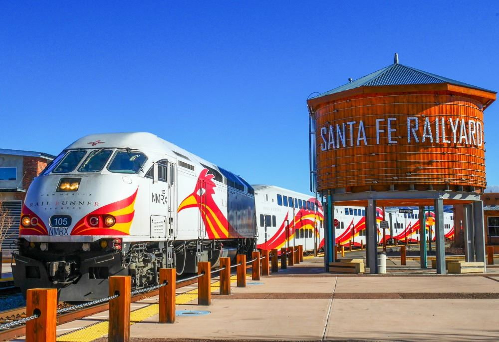 Rail Runner Train at the Santa Fe Railyard